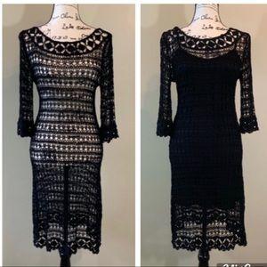 Zara Crochet Dress with Separate Slip Dress